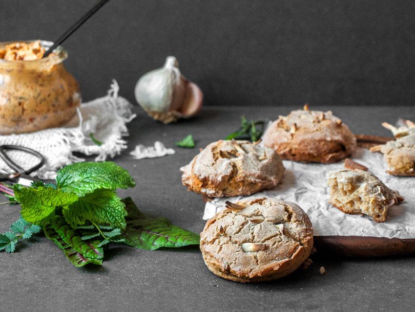 Glutenfreie Knoblauchbrötchen