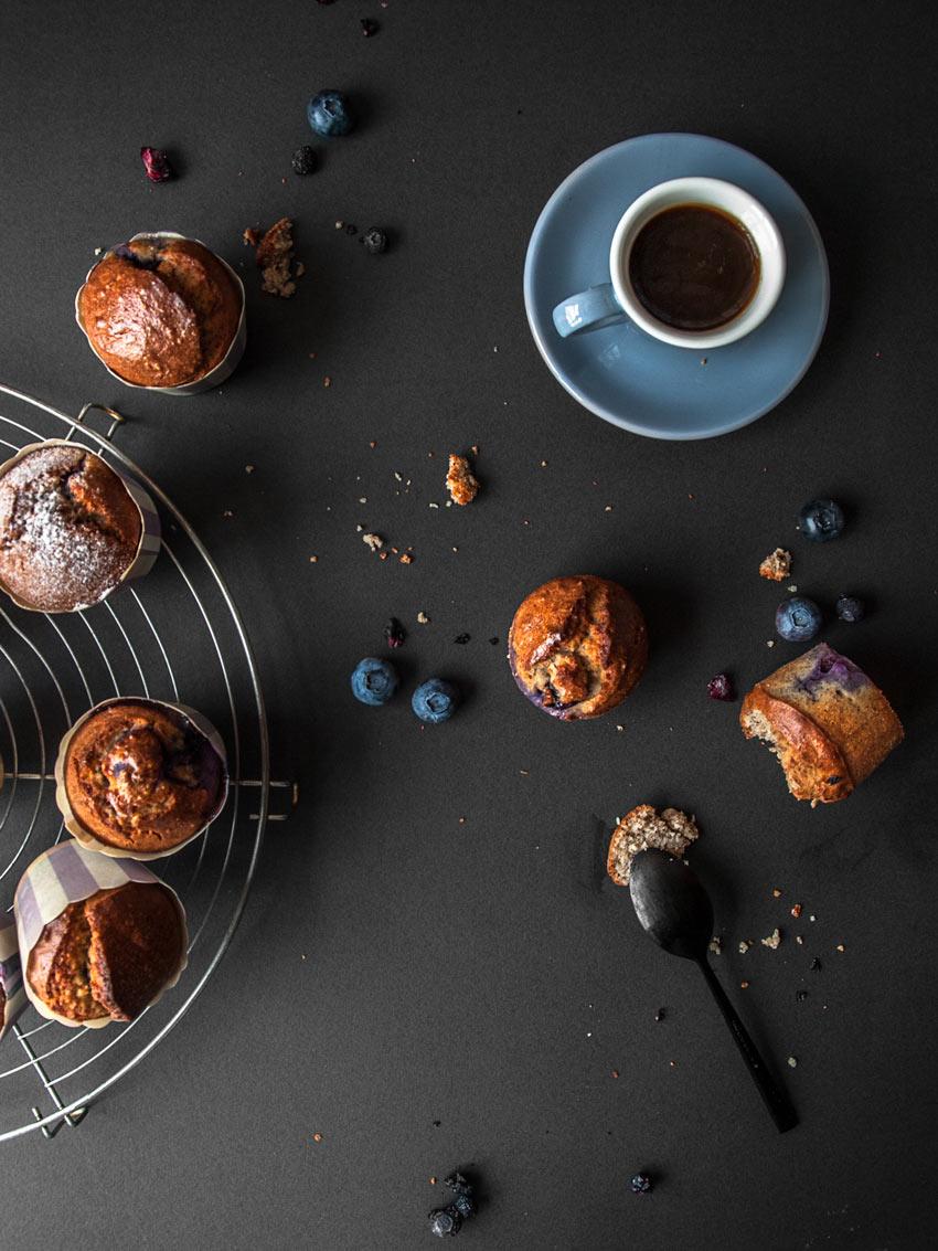 Glutenfreie Blaubeermuffins ohne Zucker
