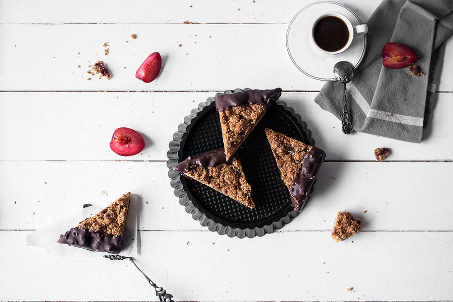 Glutenfreie und Nussfreie Müsli-Streuselecken