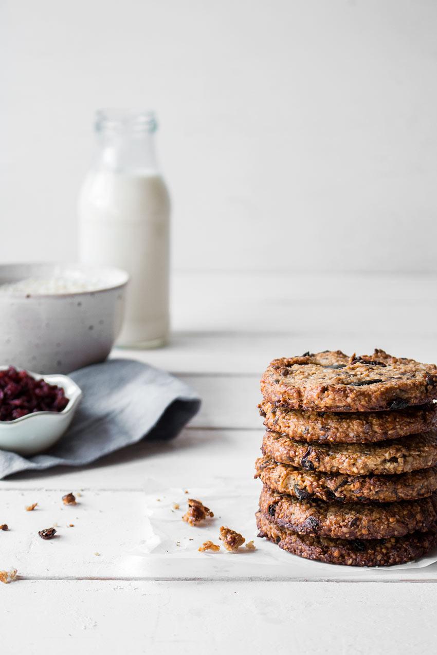 Frühstückskekse glutenfrei und vegan
