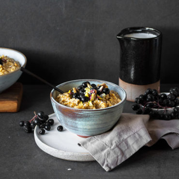 Kürbisporridge vegan und glutenfrei