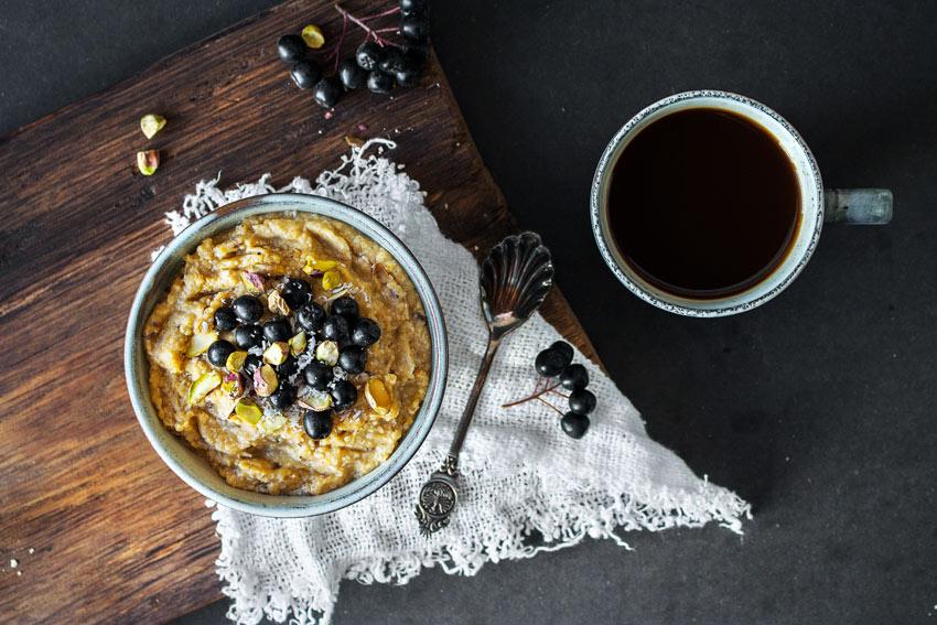 Kürbisporridge glutenfrei und vegan