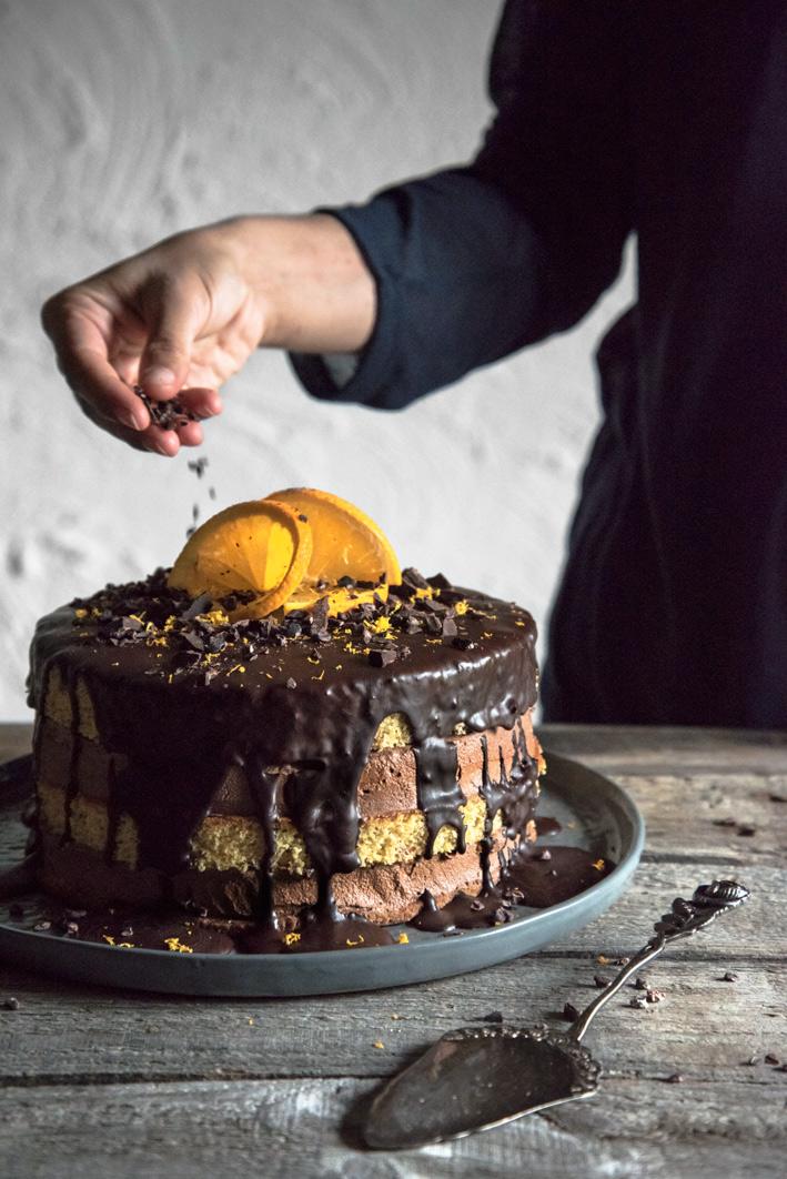 Glutenfreie Schokoladen-Orangentorte