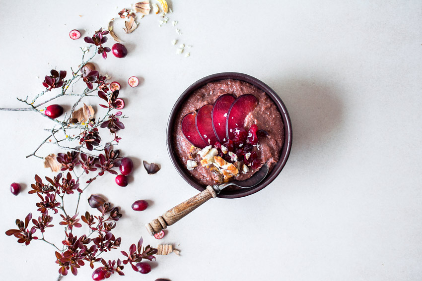 Maronenporridge glutenfrei und vegan