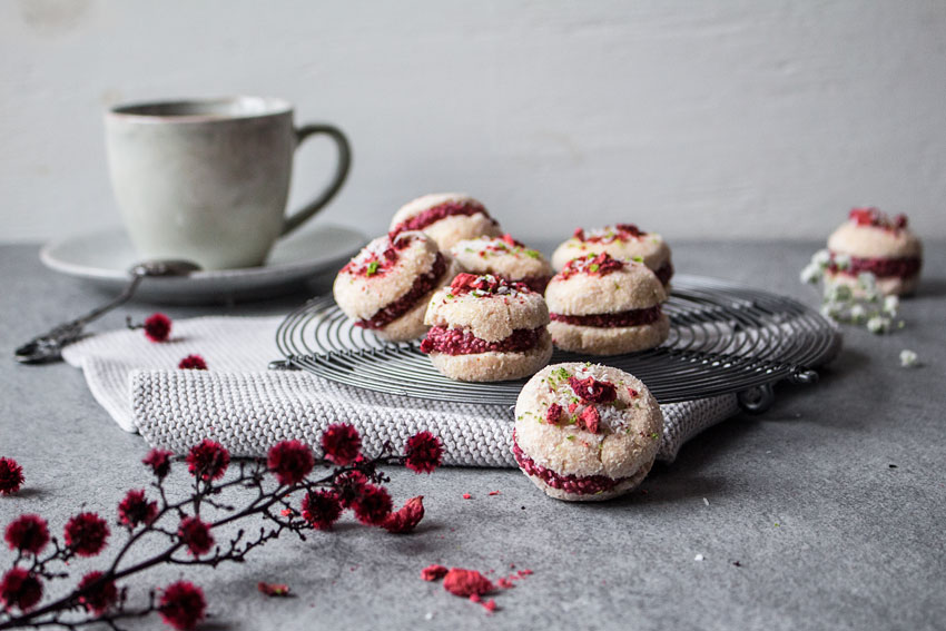 Rohkost Macarons, glutenfrei und ohne Zucker