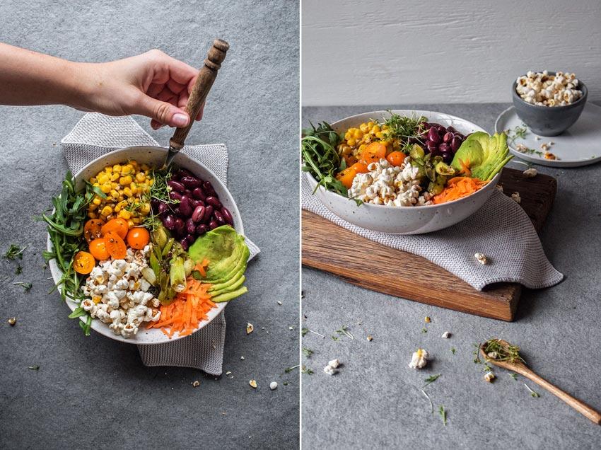 Gesunder Popcorn-Salat