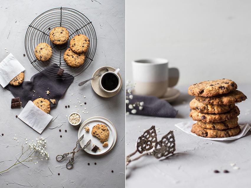 Glutenfreie und vegane Chocolate Chip Cookies