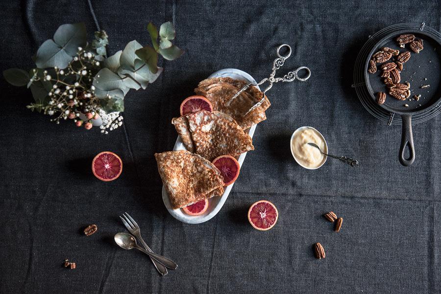 Glutenfreie vegane Crepes