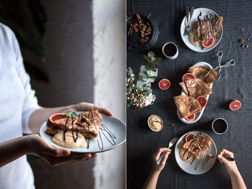 Glutenfreie und vegane Crepes