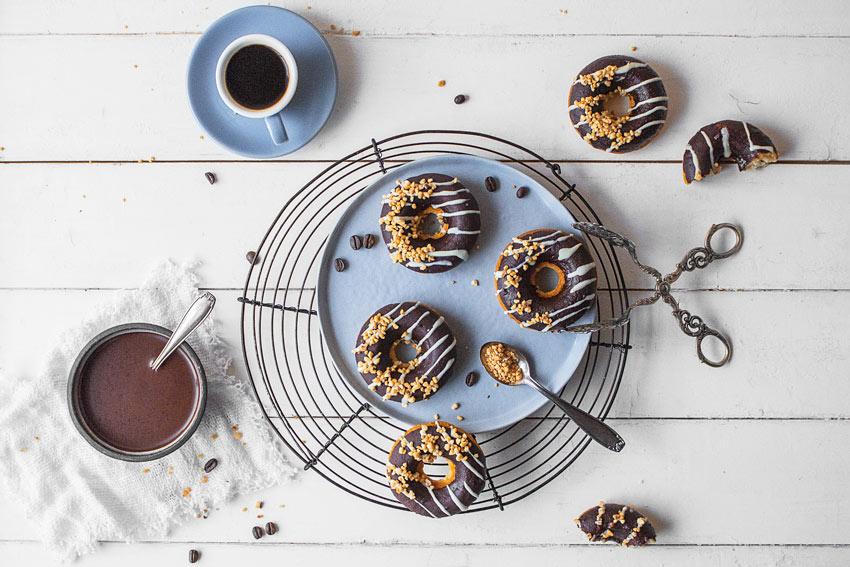 Gesunde Donuts glutenfrei zuckerfrei