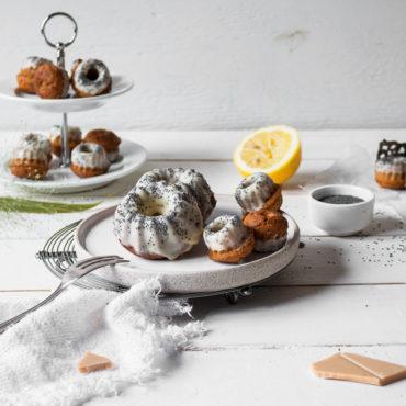 Glutenfreie und vegane Zitronen-Mohn Gugls