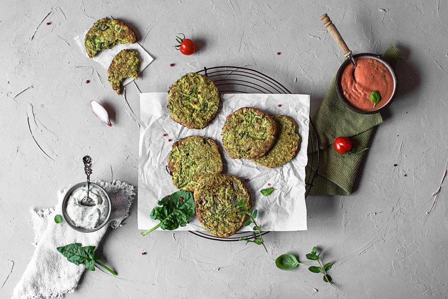 Gesunde Gemüsepuffer vegan