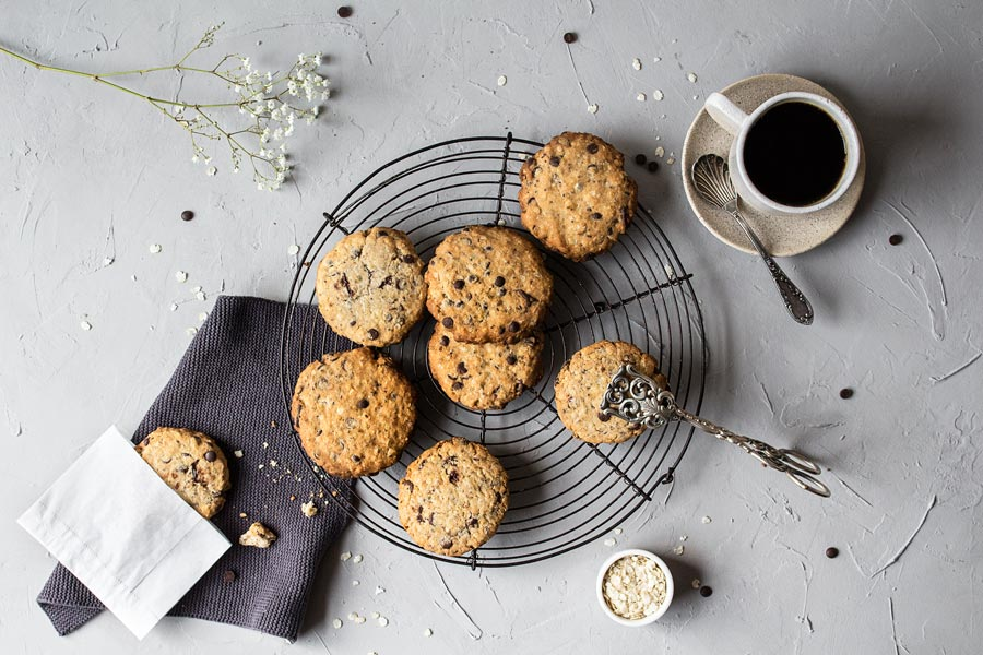 glutenfreie und vegane Chocolate Cookies