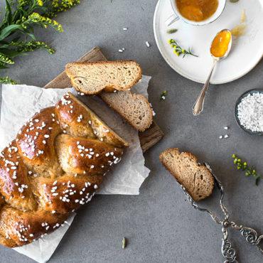 Glutenfreier Hefezopf (vegan)