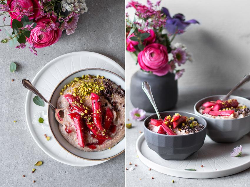rhabarber porridge ohne hafer glutenfrei freiknuspern. Black Bedroom Furniture Sets. Home Design Ideas