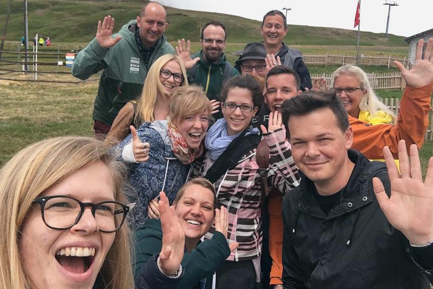 Ein Selfie unserer lustigen Blogger-Runde!