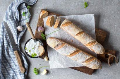 glutenfreies und veganes Baguette