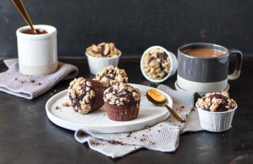 Glutenfreie Schokoladen-Muffins ohne Eier