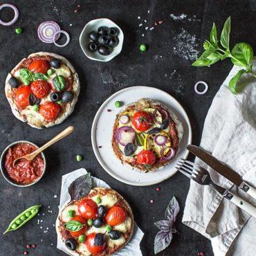 glutenfreie und vegane Mini-Pizzen