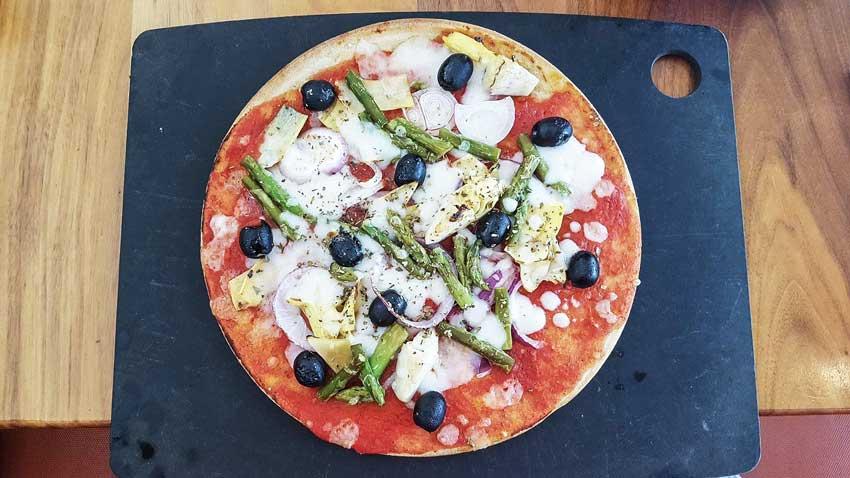 """Glutenfreie Pizza mit veganem Käse bei """"Pizza Express"""""""