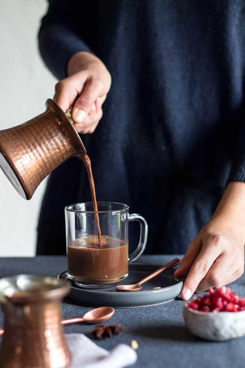 Veganer Lebkuchen-Latte Macchiato ohne Zucker   Freiknuspern