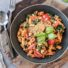 Pasta mit Spinat-Tomaten Soße & Walnuss-Parmesan (glutenfrei und vegan)