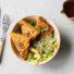 Mediterrane Polentaecken mit Ahornsirup-Kruste (glutenfrei & vegan)