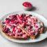 Rhabarber-Himbeer Kuchen ohne Mehl (glutenfrei & vegan) *mit Videoanleitung